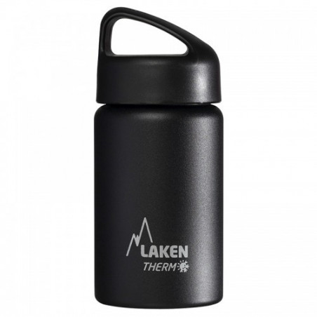 St. steel thermo bottle 18/8 - 0,35l - Black