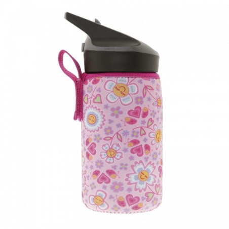 Tritan bottle 0,45L Katuki - neoprene cover Bugs a
