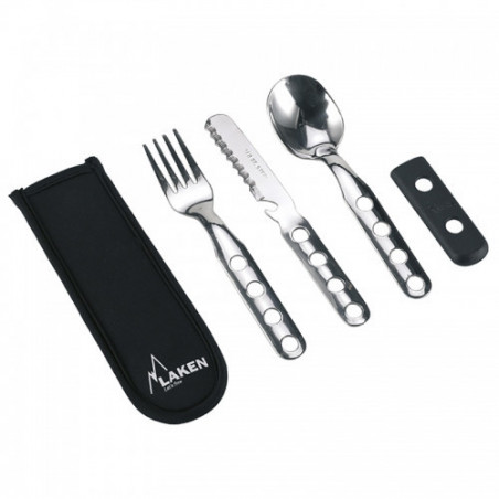 Stainless steel cutlery 3 pcs. with neoprene cover