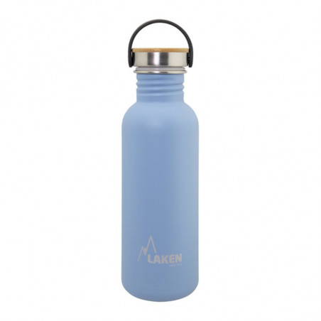 Basic Steel Bottle 750ml ,Bamboo S/S Cap - Blue