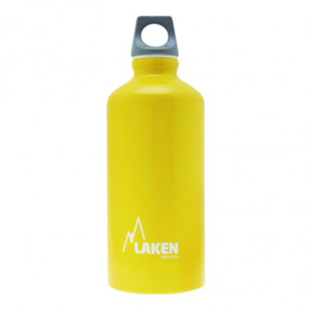 Alu. Bottle Futura 0,6 L.-Grey Cap -Yellow Bot.