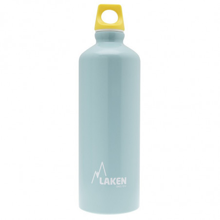 Alu. Bottle Futura 0,75 L.-Yellow Cap -Light blue