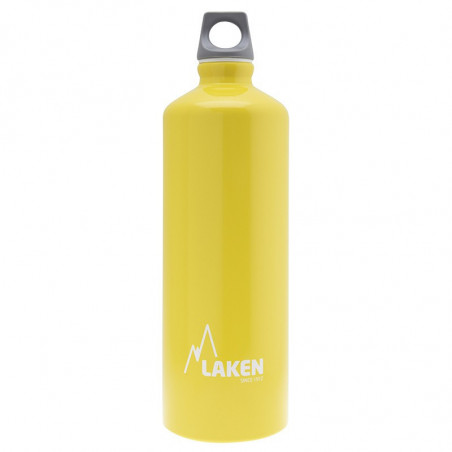 Alu. Bottle Futura 1 L.-Grey Cap -Yellow Bot.