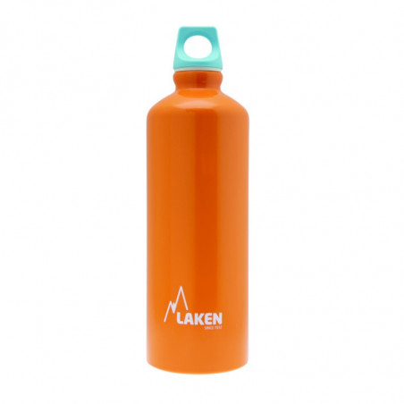 Alu. Bottle Futura 1 L.-Blue Cap -Orange Bot.