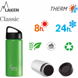 LAKEN CLASSIC THERMO stainless thermo bottle 500ml yellow