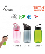 LAKEN JANNU TRITAN plastová flaša 450ml svetlo-ružová BPA FREE