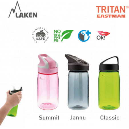 LAKEN TRITAN CLASSIC plastová flaša 450ml - svetlo-modrá BPA FREE