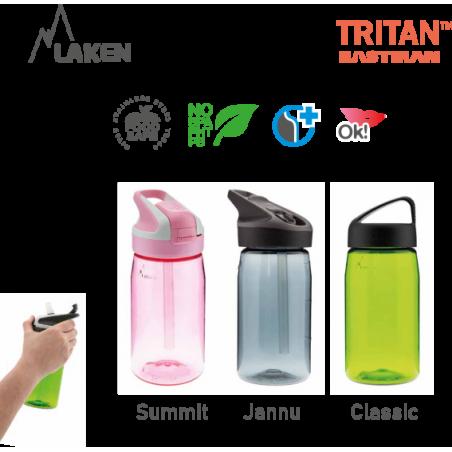 LAKEN TRITAN CLASSIC plastic bottle 450ml red BPA FREE