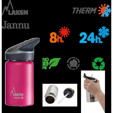 Laken Janne THERMO nerezová termo láhev 350 ml modrá