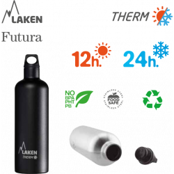 LAKEN FUTURA THERMO stainless thermo bottle 750ml red