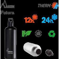 LAKEN FUTURA THERMO nerezová termo fľaša 750ml  strieborná