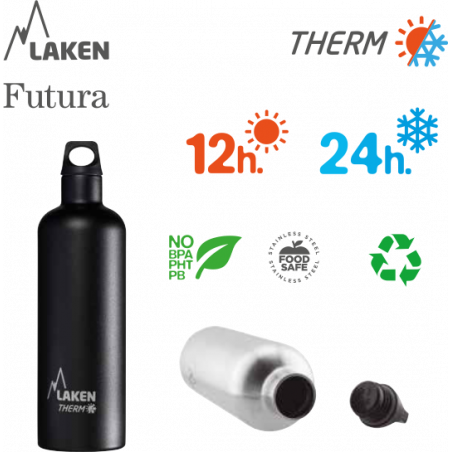 LAKEN FUTURA THERMO stainless thermo bottle 750ml pink
