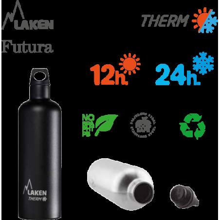 LAKEN FUTURA THERMO nerezová termo fľaša 500ml tyrkysová